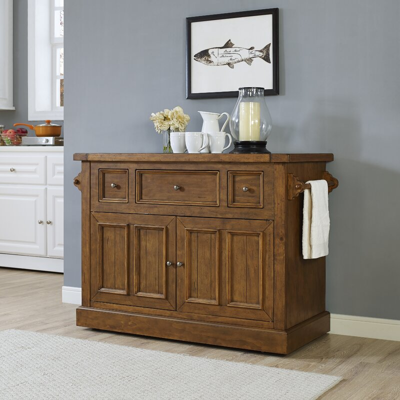 Lovely Ordway Kitchen Island With Marble Top