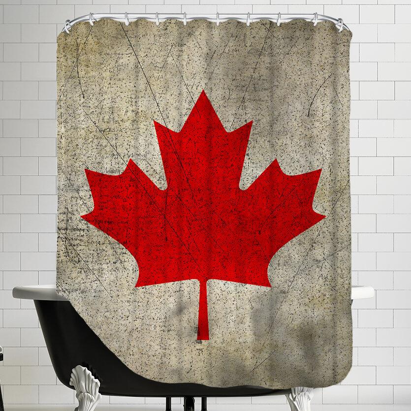 East Urban Home Canada Flag Single Shower Curtain Wayfair