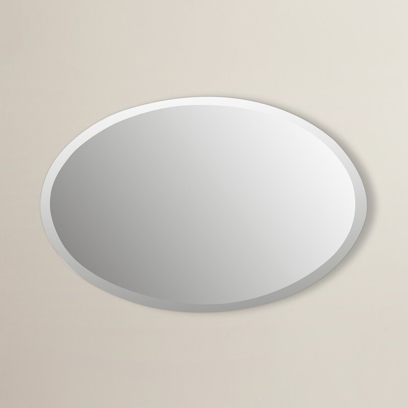 Thornbury Oval Bevel Frameless Wall Mirror