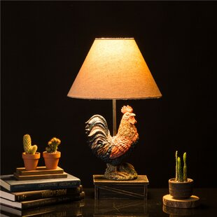 table century black mid ebay s lamp vintage rooster ceramic bn b