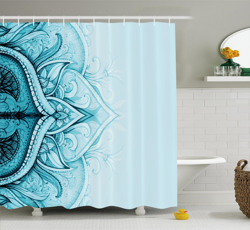Florie Ethnic Ornamental Lace Shower Curtain