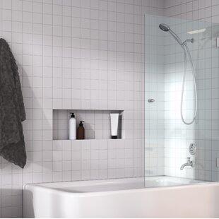 Frameless Glass Shower Panel | Wayfair