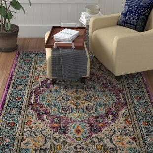 Vernon Violet/Light Blue Rug by World Menagerie