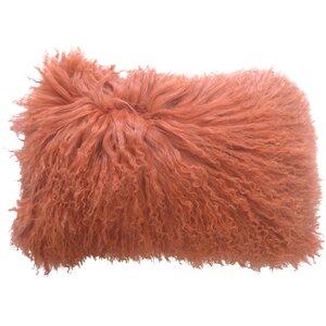Layden Lamb Fur Throw Pillow