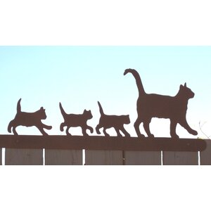 Cat Family for Fence Wall Du00e9cor