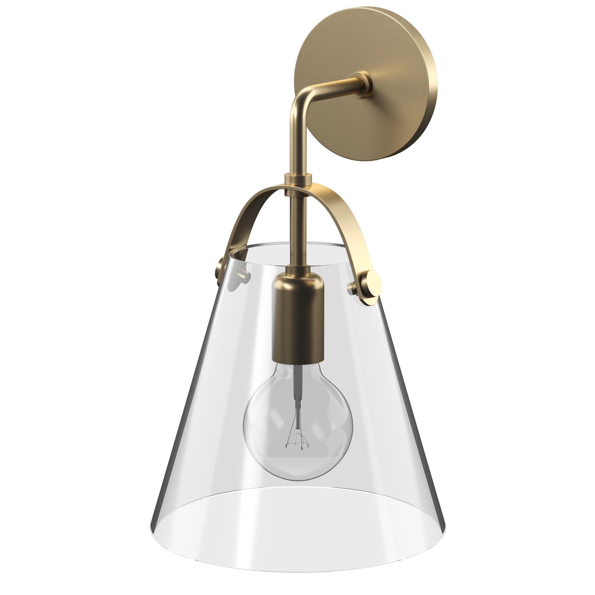 Kautz 1 light armed sconce with dimmer switch