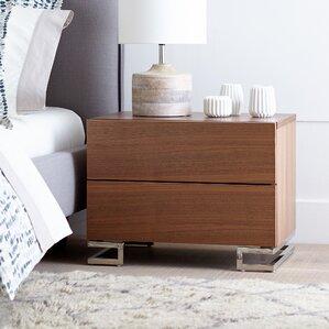 domingo 2 drawer nightstand