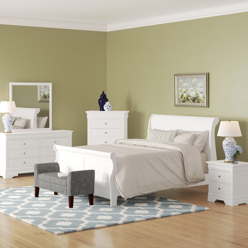 Julie Queen Sleigh 5 Piece Bedroom Set