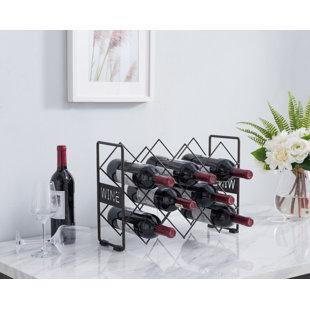 Sigmon 10 Bottle Tabletop Wine Rack