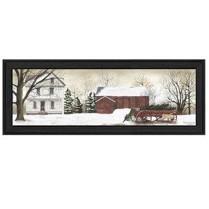 'Christmas Trees for Sale' Framed Print On Wood