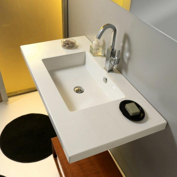 mars ceramic self rimming bathroom sink