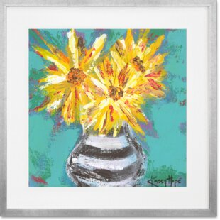 Yellow flower painting wayfair yellow flowers framed painting print mightylinksfo