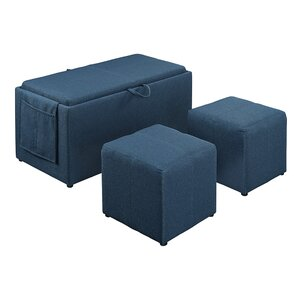 Urbank 3 Piece Ottoman Set by Andover Mills