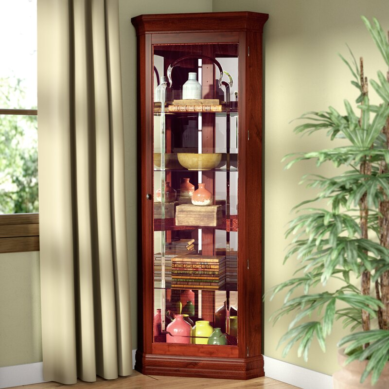 Superieur North Palisade Lighted Corner Curio Cabinet