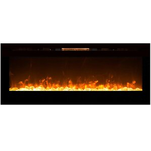 Emeril Wall Mount Steel Electric Fireplace b..