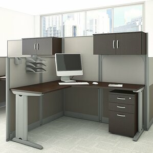 office desk cubicle. Office In An Hour LShape Workstation With Storage And Accessories Desk Cubicle