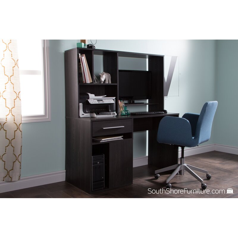 South Shore Annexe Computer Desk With Hutch Amp Reviews