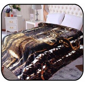 Hiyoko Safari Deer Animal Mink Blanket