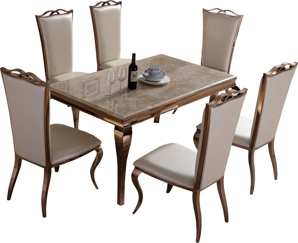 Derry's Julia Dining Table And 6 Chairs & Reviews