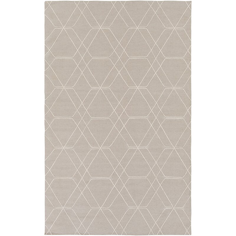 Robin Hand Woven Taupe Pale Blue Area Rug