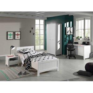 4-tlg. Schlafzimmer-Set Erik, 90 x 200 cm von V..
