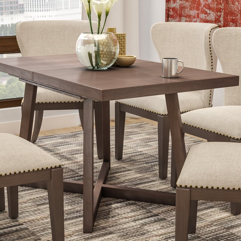 dobbs extendable wood dining table - Extendable Wooden Dining Table