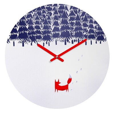 East Urban Home Alone In The Forest Wall Clock