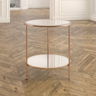 White And Gold Accent Table Wayfair - Wayfair gold end table