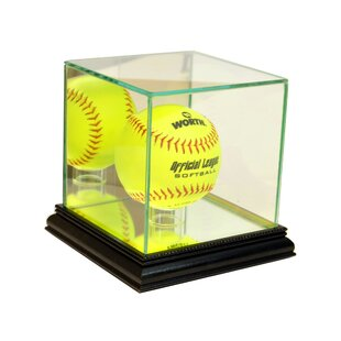 2 Used Baseball Globe Holders & Card Stand Display Case Wood & Plastic Display Cases Autographs-original