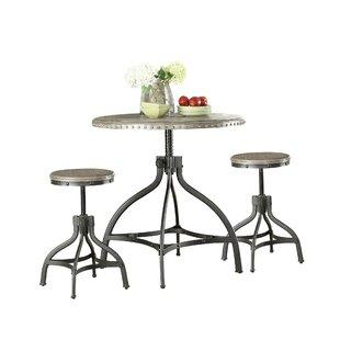 Kangley 3 Piece Counter Height Dining Set