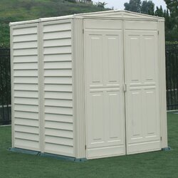 Garden Sheds 6 X 5 duramax yardmate vinyl shed 5 ft. 6 in. w x 5 ft. 6 in. d plastic