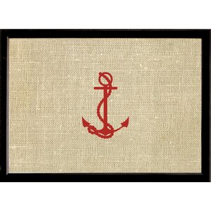 Horizontal Red Stamped Anchor Bulletin Board