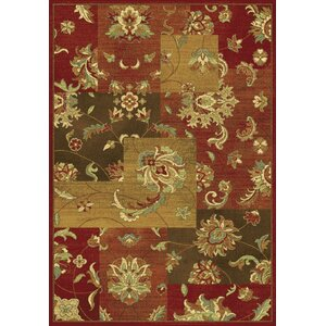 Trinway Mahal Views Red Area Rug