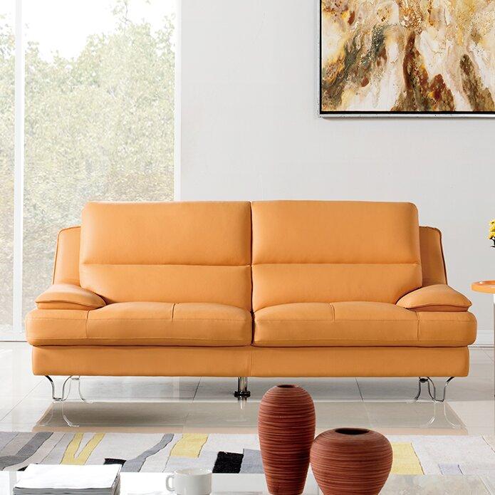 Americaneagleinternationaltrading Harrison Leather Sofa & Reviews