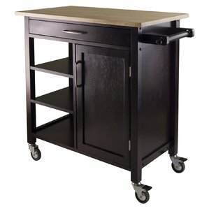 Mali Kitchen Island with Wood Top by Winsome