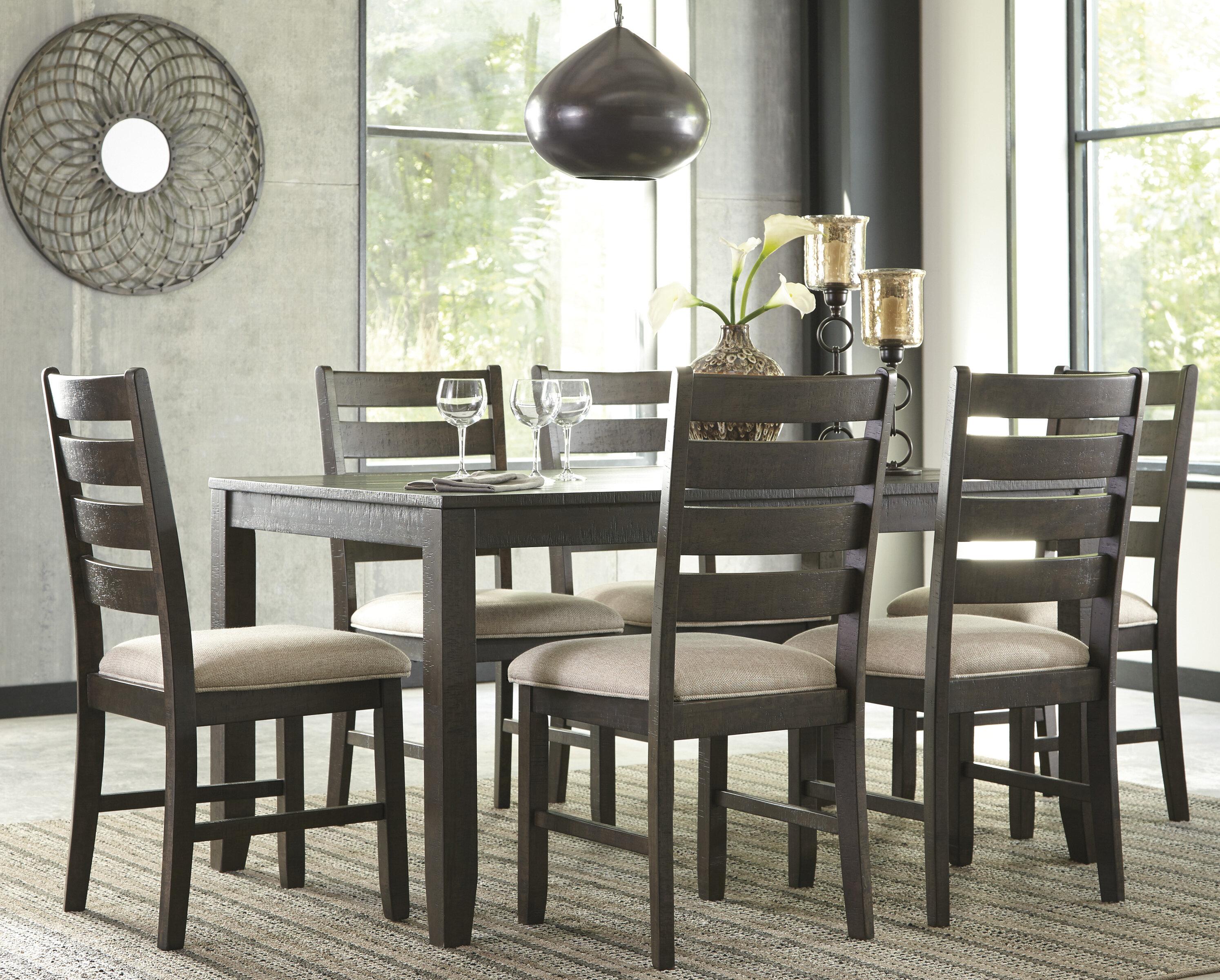 gracie oaks chapdelaine 7 piece dining set & reviews | wayfair
