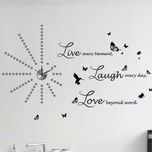 Dot Clock And Lucida Live Laugh Love Wall Decal