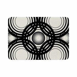 Kathryn Pledger Mono Geo Geometric Memory Foam Bath Rug