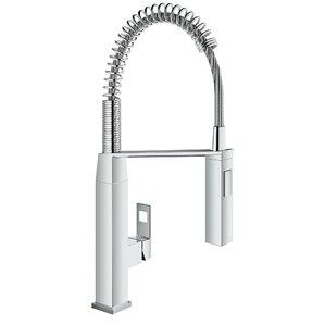 eurocube single handle deck mount semipro kitchen faucet