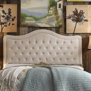shipman tufted upholstered panel headboard