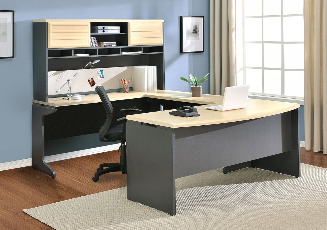 Cassy U Shape Corner Desk With Hutch