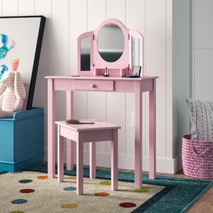 Dressing Table Set with Mirror by Roba