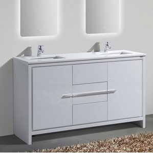 bathroom vanity double sink 60. Bosley 60  Double Sink Modern Bathroom Vanity Vanities You ll Love Wayfair