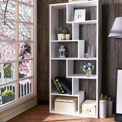 Saltzman Geometric Bookcase Ebern Designs
