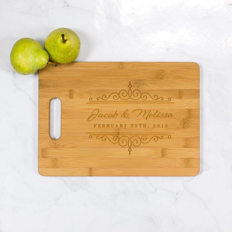 woodums wedding personalized bamboo cutting board reviews wayfair