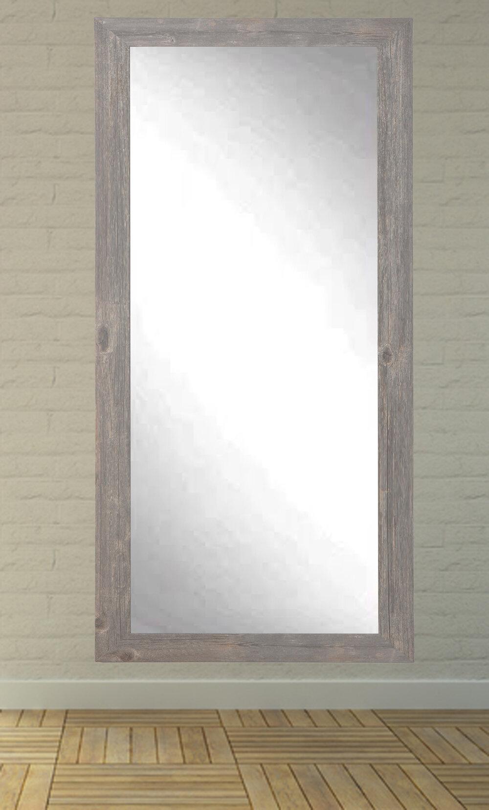 Union Rustic Iona Rustic Wild West Barnwood Full Length Wall Mirror ...