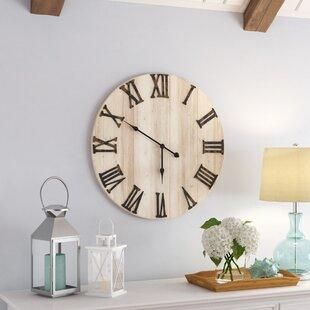 White Distressed Clock Wayfair