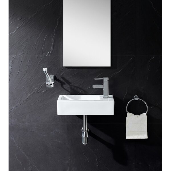 """Fine Fixtures Vitreous China Wall Hung 18"""" Wall Mount Bathroom Sink & Reviews"""