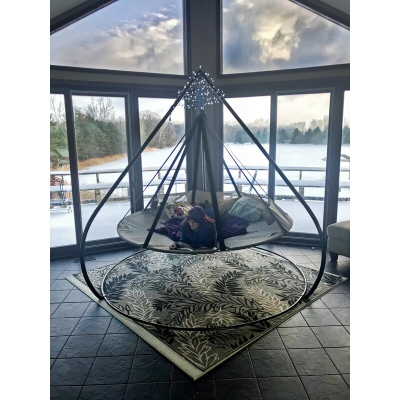 Flying Saucer Chair Hammock with Stand  sc 1 st  Wayfair & Flowerhouse Flying Saucer Chair Hammock with Stand u0026 Reviews | Wayfair