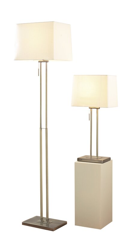 Dar lighting picasso 2 piece table and floor lamp set reviews picasso 2 piece table and floor lamp set aloadofball Image collections